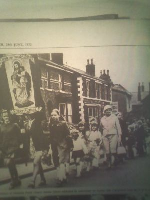A Sunday School Parade on Stanley Street in the early 1960s