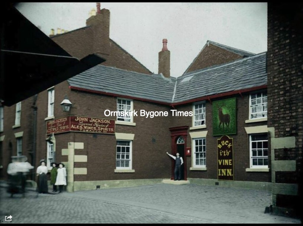 Colourised Photo of the Buck I'th Vine, Ormskirk