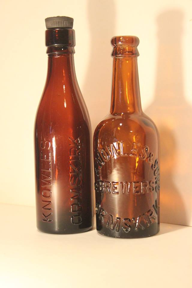 A pair of bottles from Knowles Brewery, Ormskirk