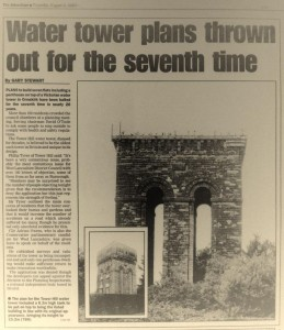 An article outlining the seventh time that planning permission was rejected for the tower on tower hill ormskirk