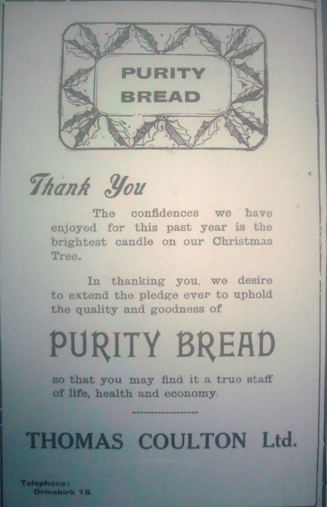 An advert for Coulton's Purity Bread