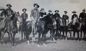 Cody with the Cowboys and 'US Cavalry' taken in Scotland in 1904