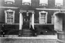 Knowles House which was demolished to build the library