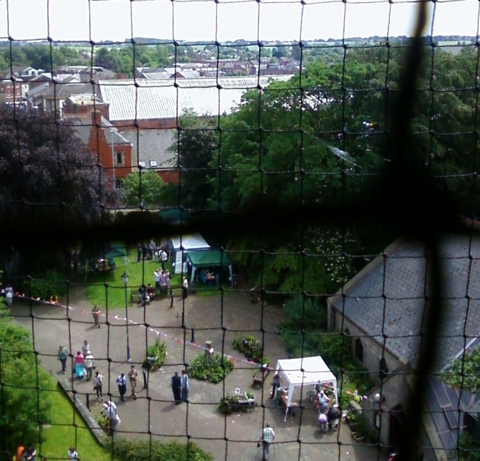 The views from Ormskirk Parish Church clock tower