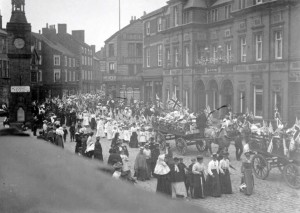 The parade on Empire Day, 24th May 1902