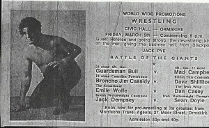 Wrestling at Ormskirk Civic Hall