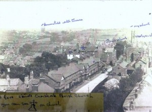 Derby Street West From Burscough Street showing Gould's hairdressers and barbers first right at No 2 and the Fire Station entrance opposite on the left