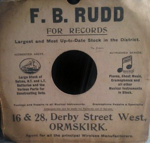 A record bought from Frederick Rudd's Derby Street West store