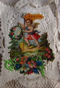 An example of a Victorian Valentine card