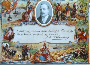 A card sent to the people of Ormskirk by Arthur Stanley after his narrow win over Lord Leverhulme.