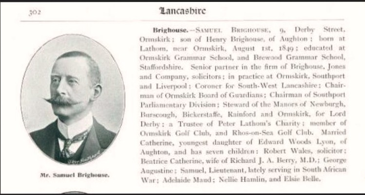 A brief biography of Sir Samuel Brighouse