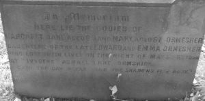 Ormesher sisters gravestone