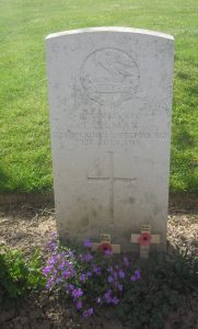 Isaac Allman's Gravestone on the Somme Battlefield