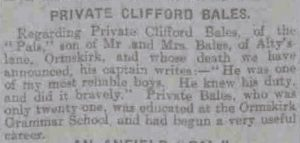 A news report following the death of Clifford Bales