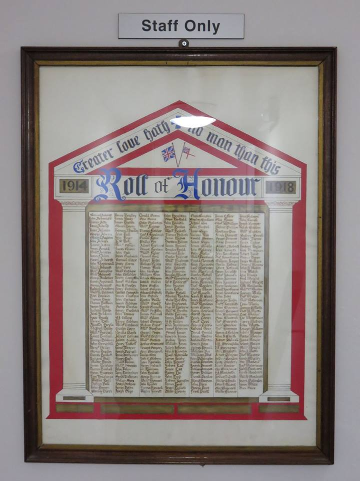 The Ormskirk Comrades Roll Of Honour