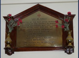 The Ormskirk Post Office War Memorial