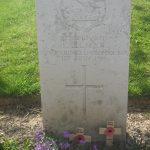 Isaac Allman's Gravestone on the Somme Battlefield